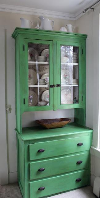 green chalk paint® hutch