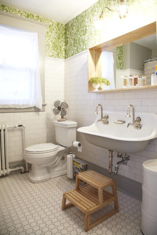 Bon Vintage Double Bathroom Sink