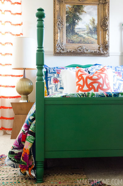 bold green bed