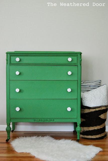 mossy green dresser