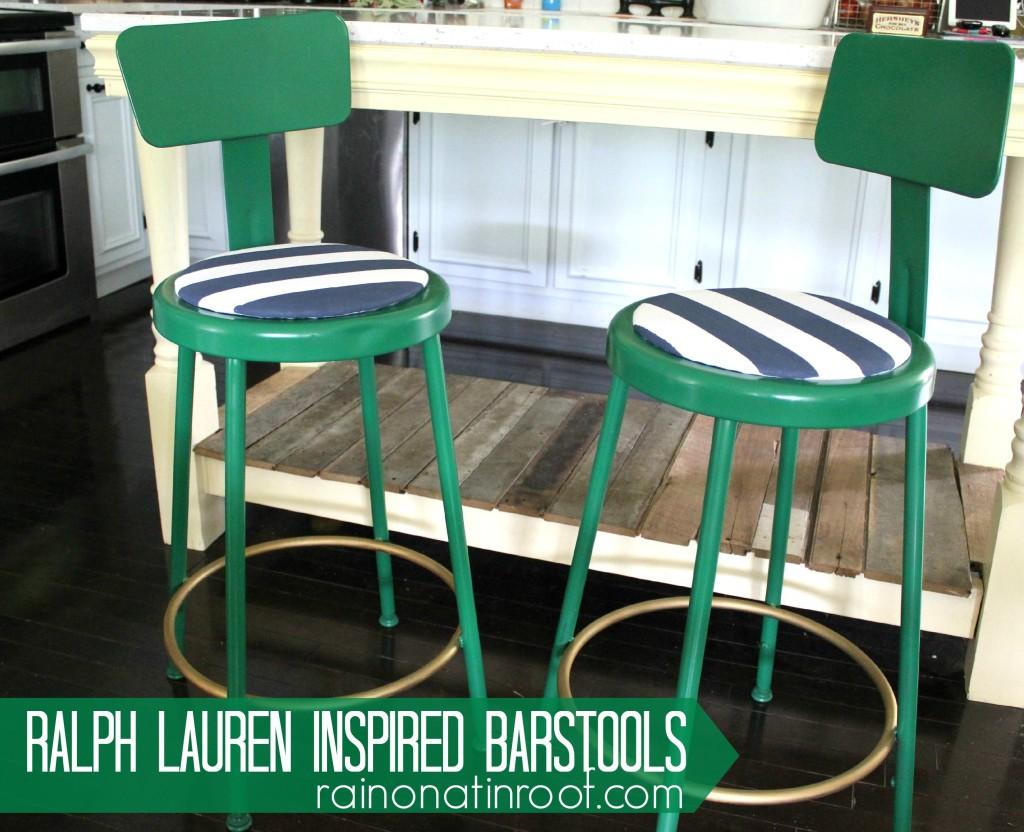 ralph lauren green barstools