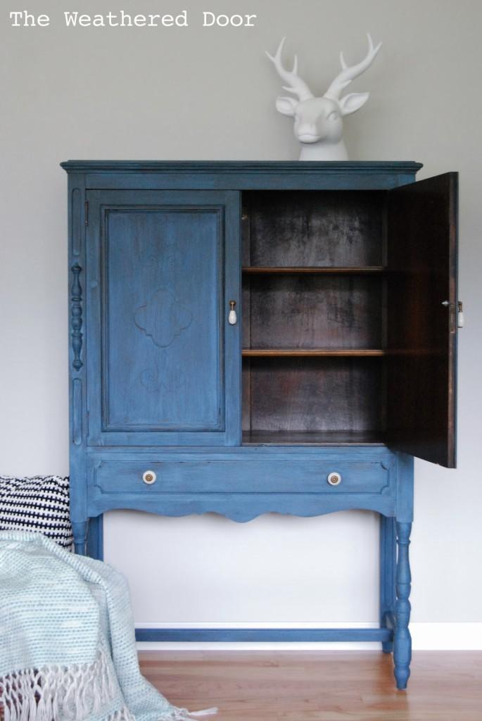 soldier blue cabinet