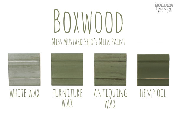 Boxwood Finishes #MMSMP #mmsmilkpaint