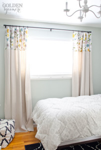 Big Girl Bedroom Drop Cloth Curtains
