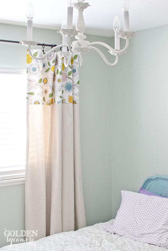 Big Girl Bedroom Drop Cloth Curtains