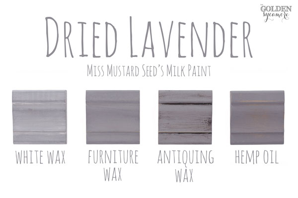 Dried Lavender Finishes #MMSMP #mmsmilkpaint