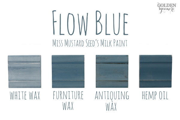 Flow Blue Finishes #MMSMP #mmsmilkpaint