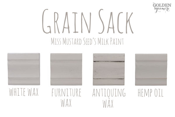 Grain Sack Finishes #MMSMP #mmsmilkpaint
