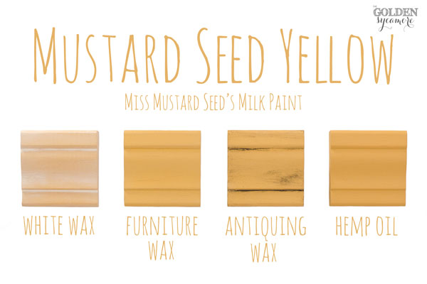 Mustard Seed Yellow Finishes #MMSMP #mmsmilkpaint