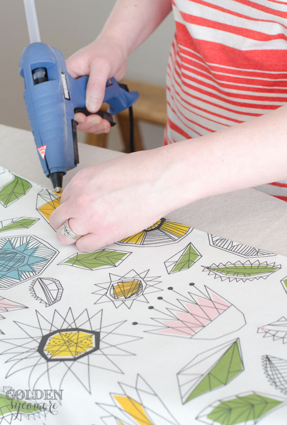 DIY No Sew Drop Cloth Curtains