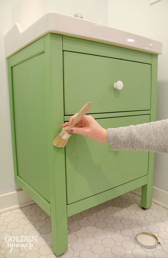 Stunning chalk paint ikea hack vanity waxing