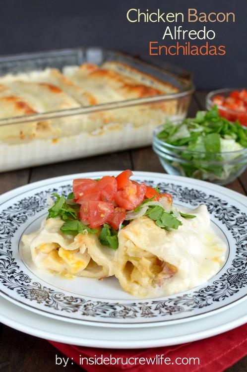 Delicious Recipes : Chicken Bacon Alfredo Enchiladas