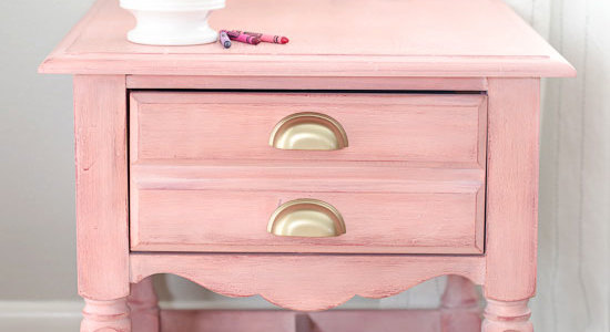 Pink Nightstand Side Table