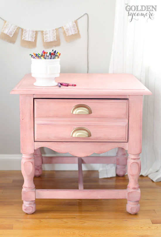 White Nightstand One Drawer