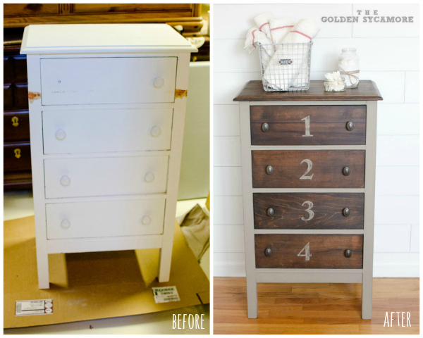 Bathroom Cabinet before and after