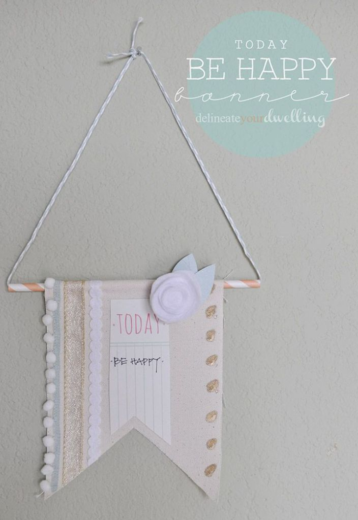 Decor, DIYs, and Treats to Whet your Appetite - be happy banner