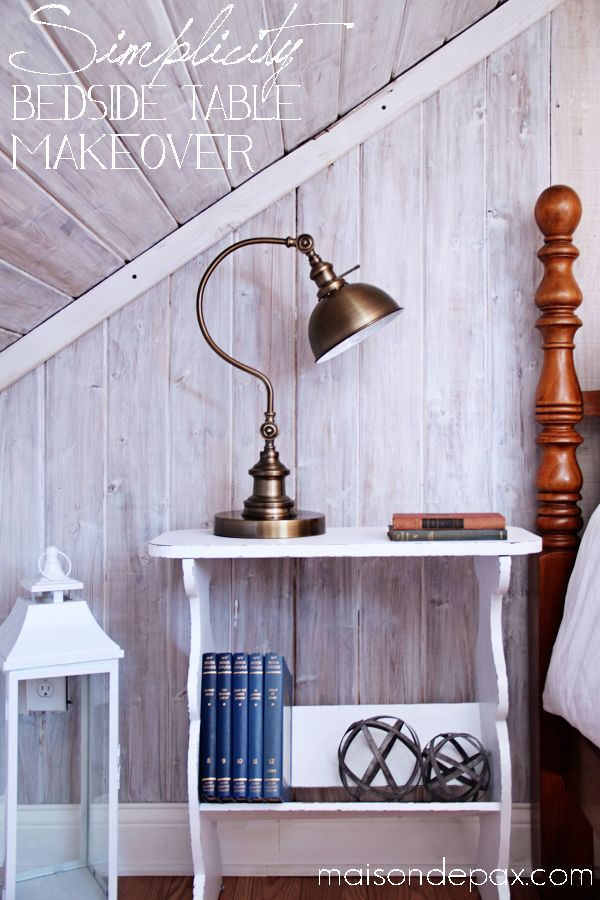 Decor, DIYs, and Treats to Whet your Appetite - bedside table makeover