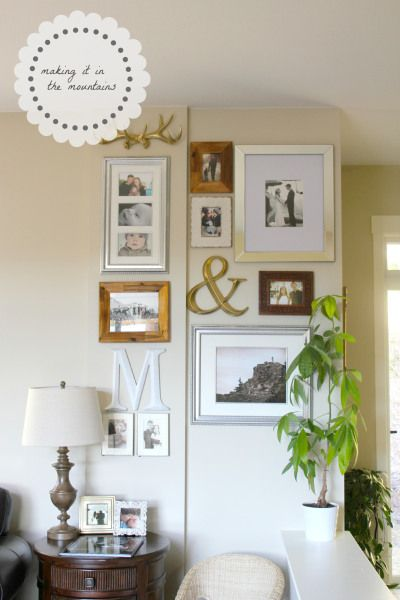Decor, DIYs, and Treats to Whet your Appetite - diy gallery wall