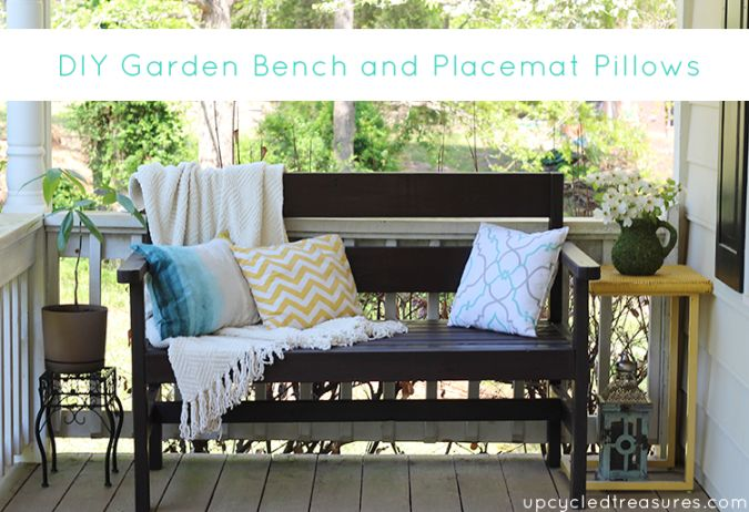 Decor, DIYs, and Treats to Whet your Appetite - garden bench and pillows