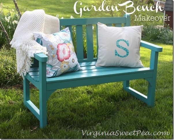 Decor, DIYs, and Treats to Whet your Appetite - garden bench makeover