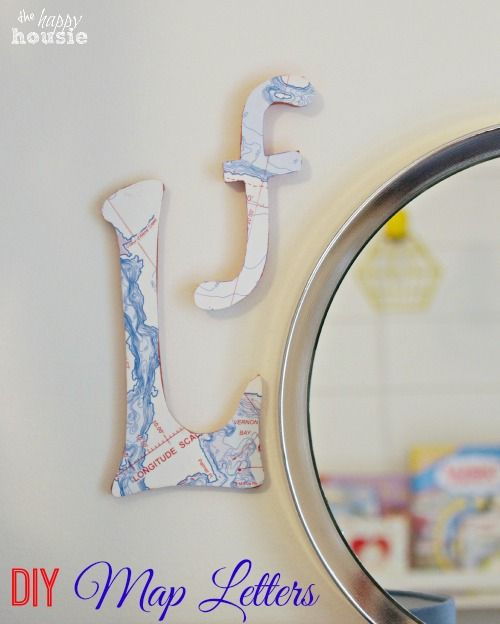 Decor, DIYs, and Treats to Whet your Appetite - map letters