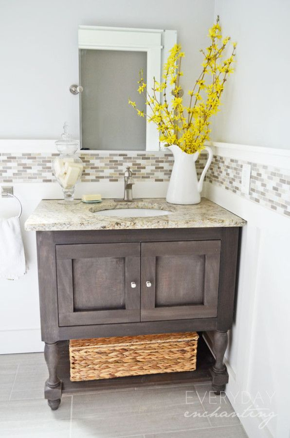 Decor, DIYs, and Treats to Whet your Appetite - powder room makeover