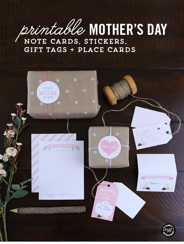 Decor, DIYs, and Treats to Whet your Appetite - printable mothers day cards and tags