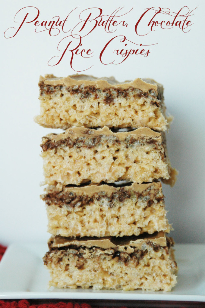 Delicious Recipes : Peanut Butter & Chocolate Rice Crispies
