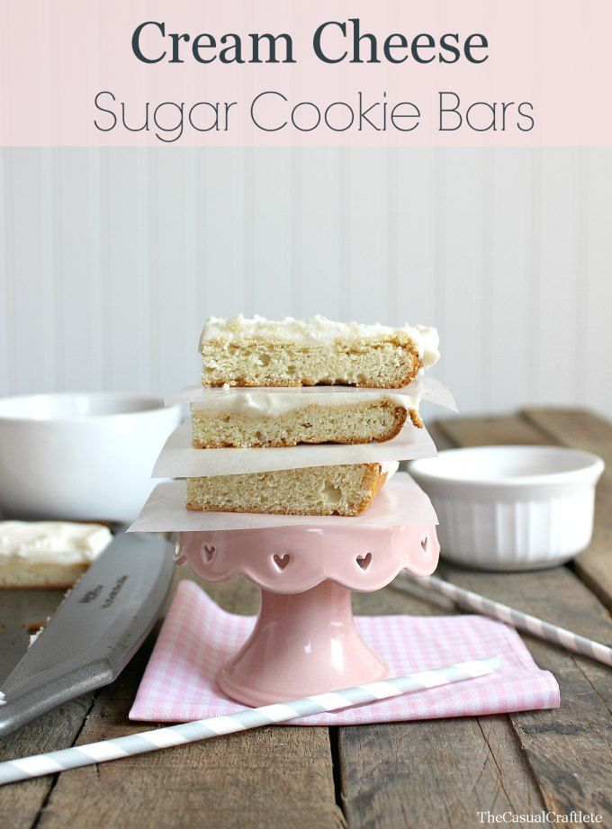 Decor, DIYs, and Treats to Whet your Appetite - sugar cookie bars
