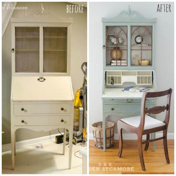 Vintage Secretary before and after