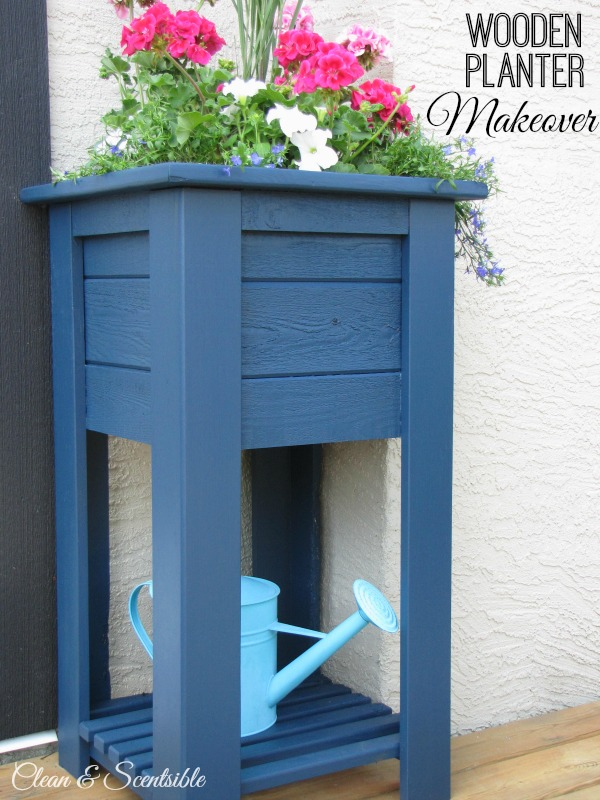 Wooden Planter Makeover from Clean & Scentsible