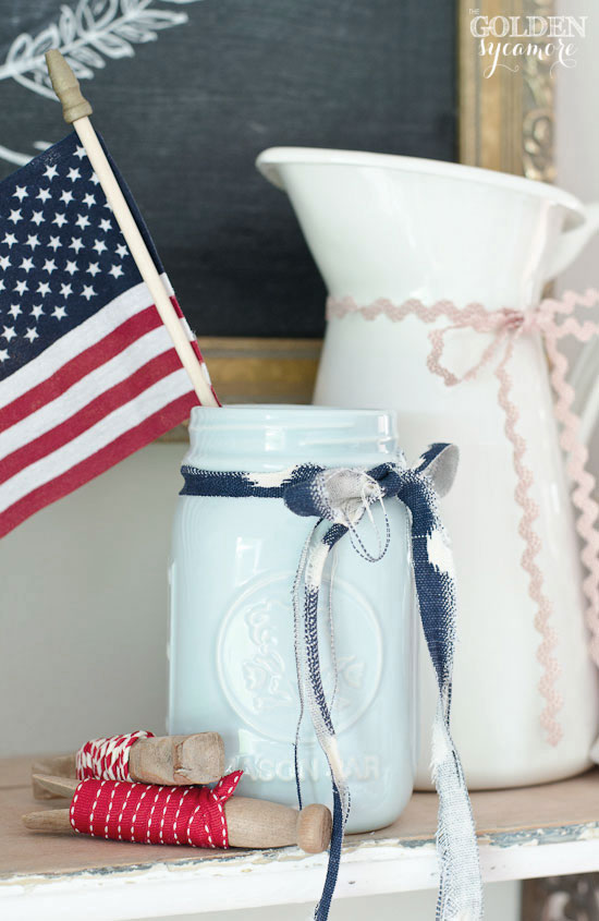 Independence Day decor - red, white, and blue