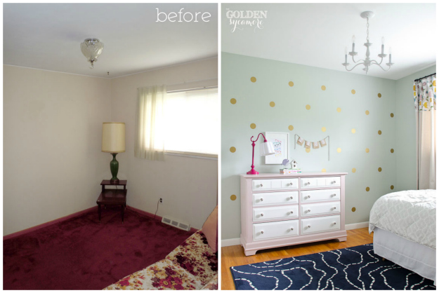 Bedroom Makeovers Before And After big girl bedroom makeover - the golden sycamore