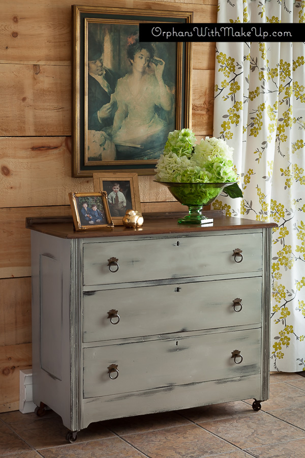 French Linen dresser from Orphans with MakeUp