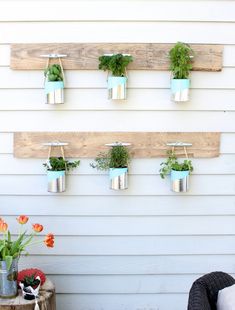 Paint Can Herb Garden from Simple Stylings