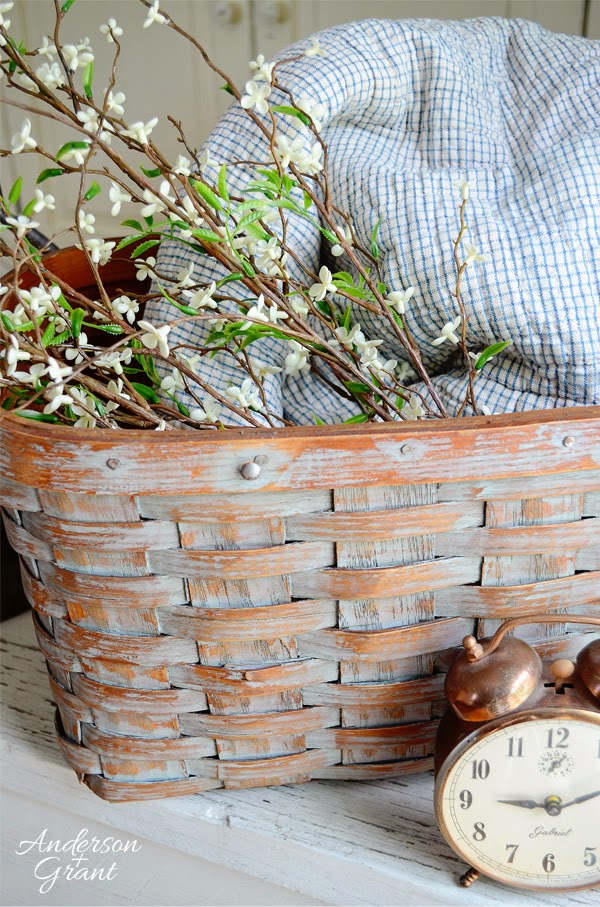 Refurbished basket from Anderson and Grant