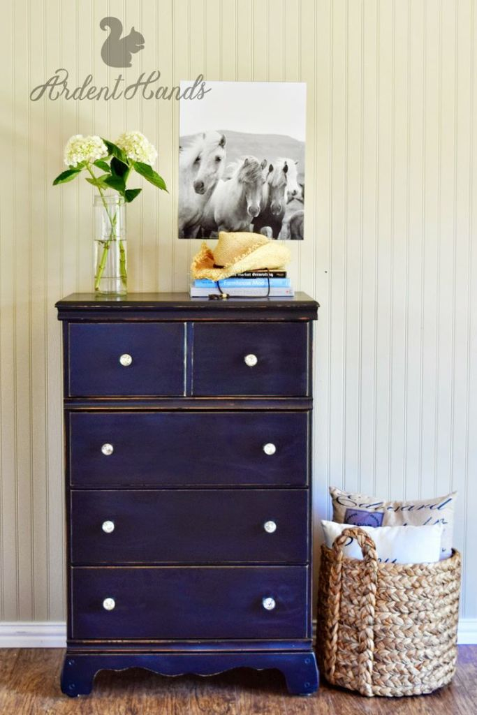 Tall Black Dresser from Ardent Hands