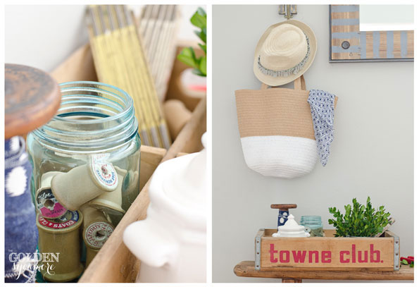 Beautiful summer decorating with vintage items