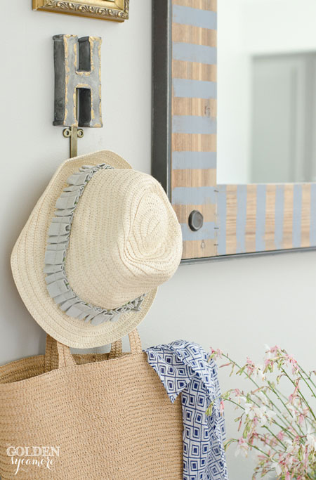 Casual beachy chic summer decor
