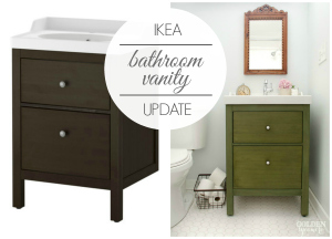 Ikea bathroom vanity update