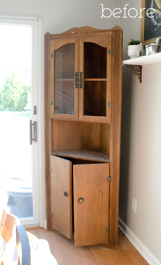Trash to treasure cabinet - before - My Practically Free Dining Room Cabinet - The Golden Sycamore