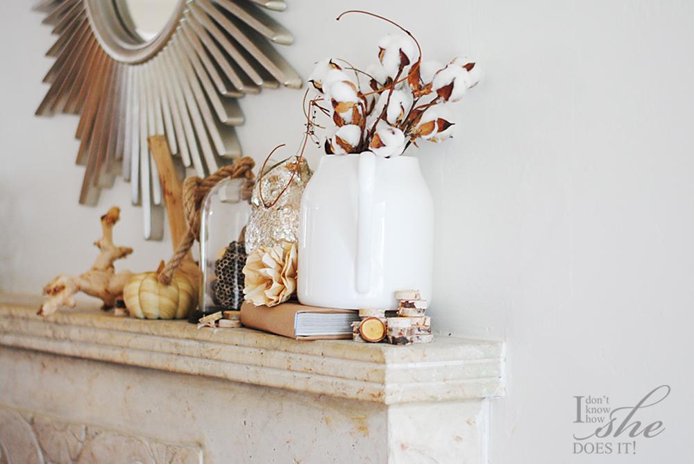 Autumn mantel decor