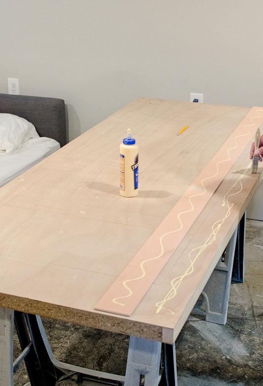 Adding paneling detail to plain sliding door