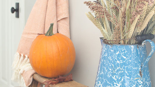 Fall Home Tour Part 1 – Entryway & Living Room