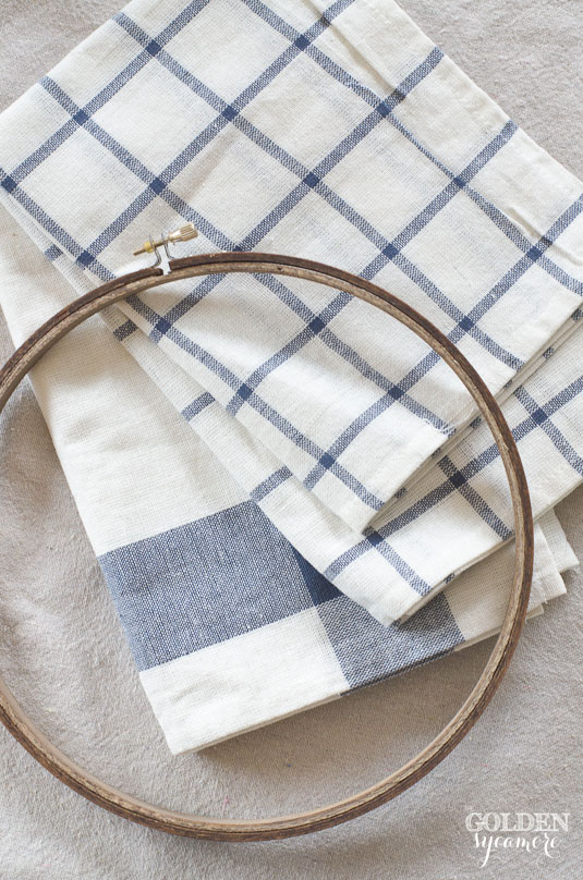 DIY embroidery hoop art - stain with milk paint