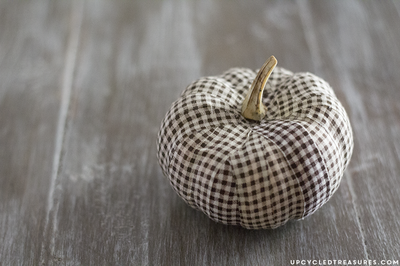 DIY fabric tape pumpkin