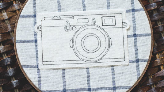 DIY Vintage Camera Embroidery Hoop Art