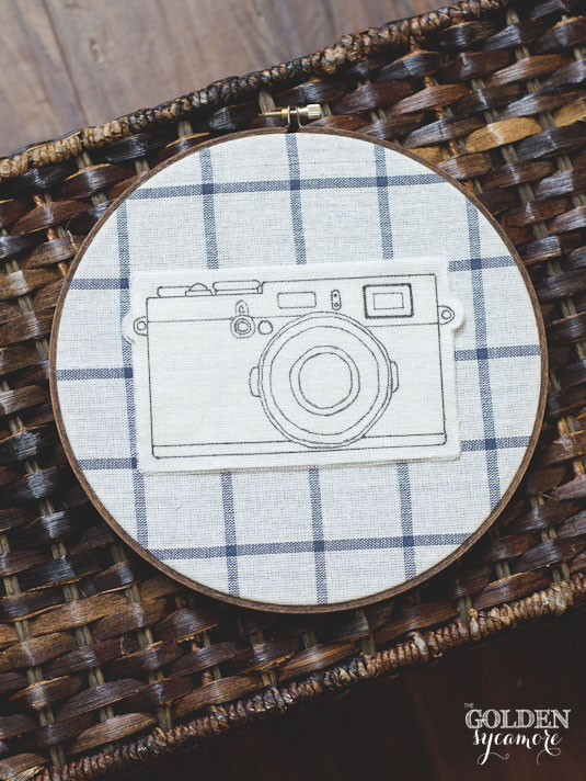 DIY rustic plaid embroidery hoop art