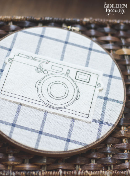 DIY rustic embroidery hoop art