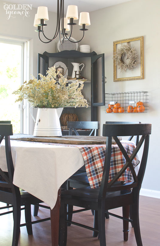 Fall home tour - rustic dining room